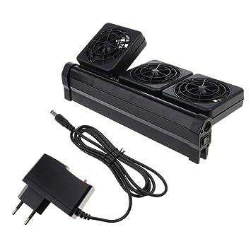 Homyl Ventelador de Enfriamiento de Acuario Accesorios Fácil Instalación Ajustable 2 Niveles - 3 Ventilador: Amazon.es: Hogar