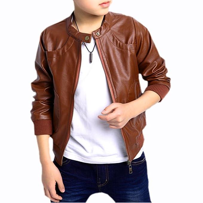 8c76d5a8b Sodialr New Boys Coats Faux Leather Jackets Children Fashion ...