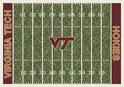 Virginia Tech Rug (Milliken 4000018593 Virginia Tech College Home Field Area Rug, 5'4