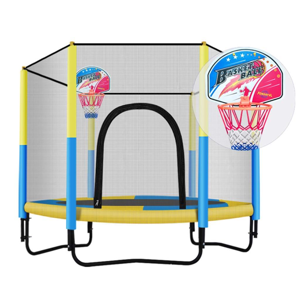 Trampoline Haushaltstrampolin Erwachsener mit Schutznetz Heimtrampolin für Zuhause Kann 200 kg tragen (Farbe : B, Größe : Diameter 150  130cm)