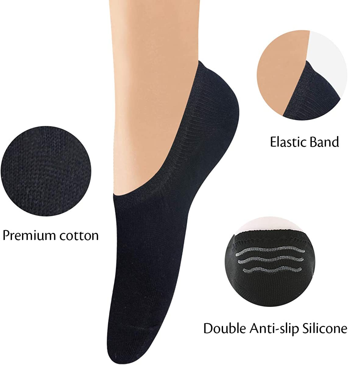 Blesiya 5 Pairs Fashion Men Multi Pattern Trainer Cotton Sweat Ankle Socks