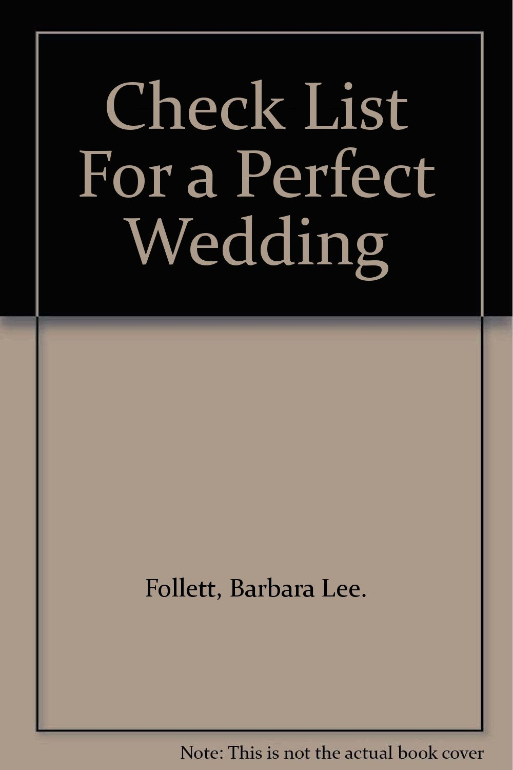 Check List For a Perfect Wedding
