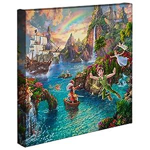 Thomas Kinkade Studios Peter Pan's Never Land 14 x 14 Gallery Wrapped Canvas