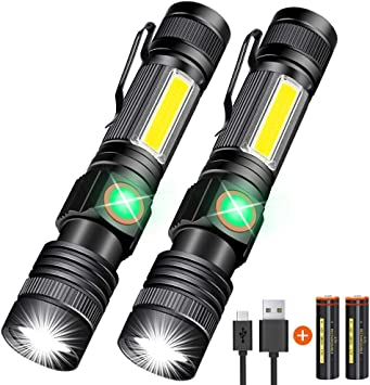 Rechargeable USB Torches 2 Pack Torches