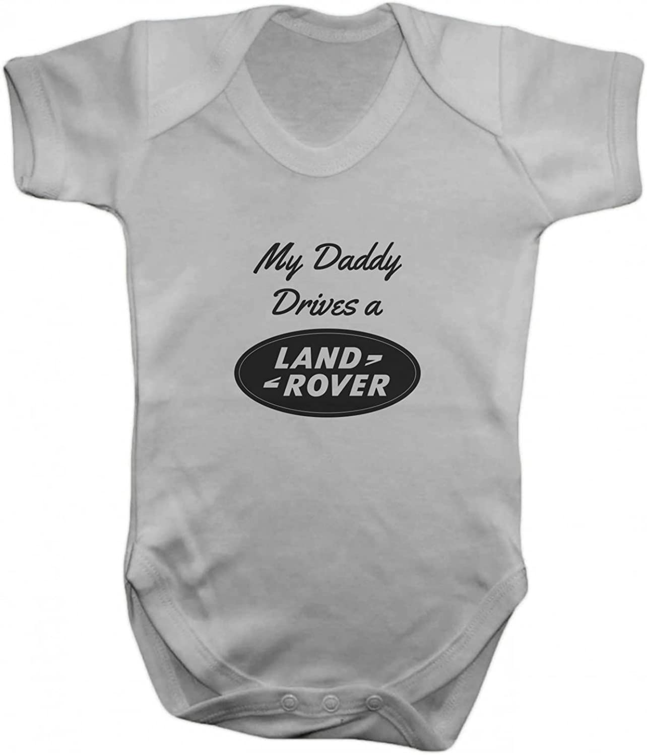 Promini Funny My Daddy Drives a Land Rover Baby Bodysuit