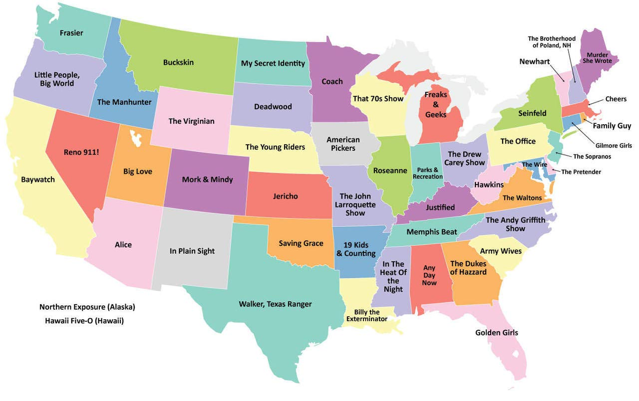 Amazon.com: Home Comforts Laminated Map - Map The Us Labeled ...