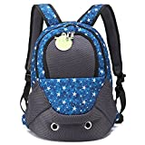 Creation Core Portable Sporty Pet Backpack Breathable Cat Dog Carrier Bag Front Backpack with Zippered Window, Blue For Sale