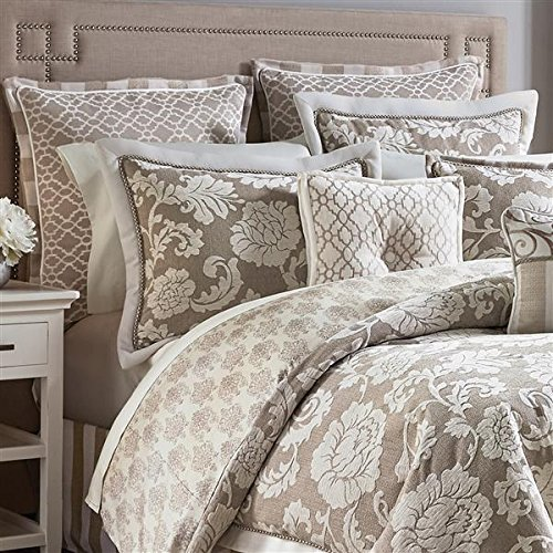 - Croscill Anessa Latte Queen Comforter Set, Beige Tan Taupe