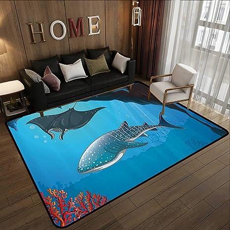 Amazon.com: Alfombra de baño, decoración de animales marinos ...