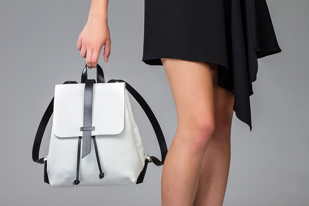 Leather White backpack, leather mini backpack, Leather Tote bag, women bag, woman small backpack, handmade backpack, women white backpack, women mini backpack, school backpack, leather purse