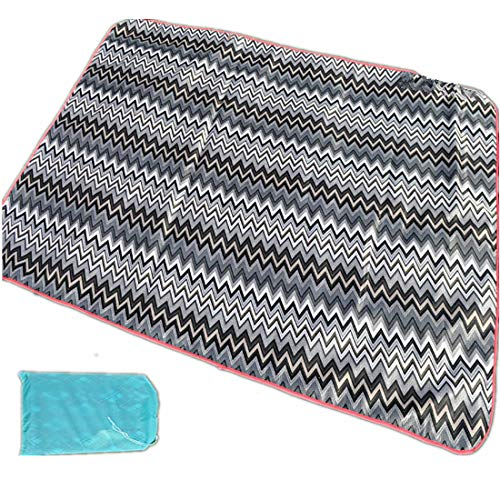 (ZDTXKJ Outdoor Picnic Blanket Water-Resistant Beach Blanket Thick Lawn mat Portable Picnic Cloth,Grey 1,150150cm )
