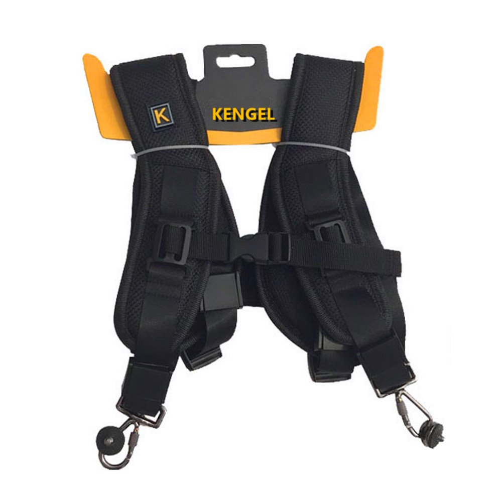 Double - Shoulder Camera Strap, Double - Camera use, Open The Single Shoulder. KENGEL
