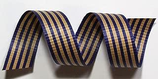 "product image for 100% Biodegradable Natural Ribbon | Prints & Stripes | Cotton Curling Ribbon | Wrapping Ribbon | Eco-Friendly Ribbon (Black & Kraft, 1/2"" x 100 Yards)"