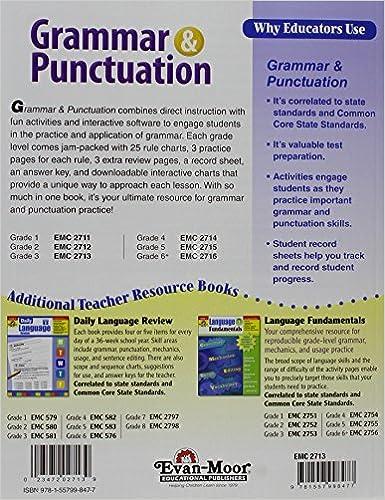 Amazon.com: Grammar and Punctuation, Grade 3 (9781557998477): Evan ...