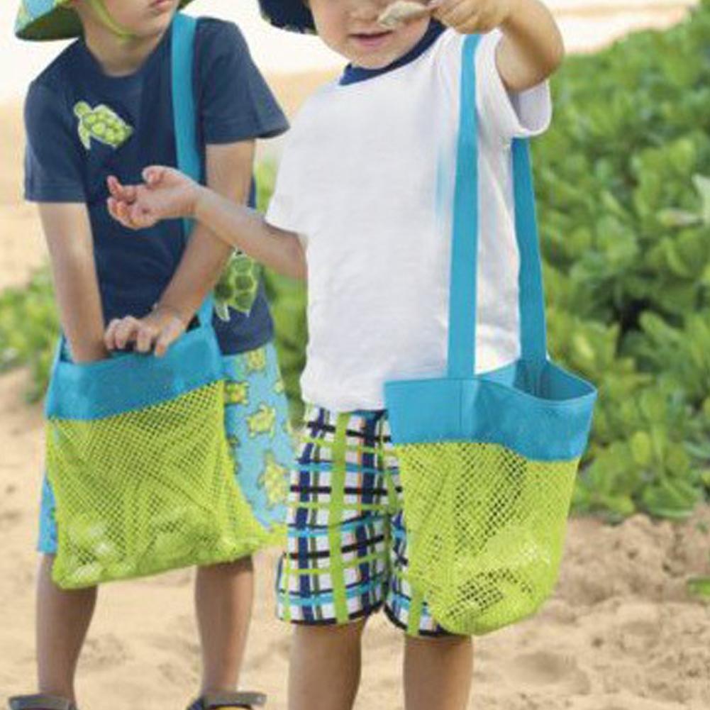 Gorgebuy Mochilas peque/ñas//Grandes de Malla de Juguete para ni/ños Pelota de Playa Ropa Mochilas para Conchas Toallas