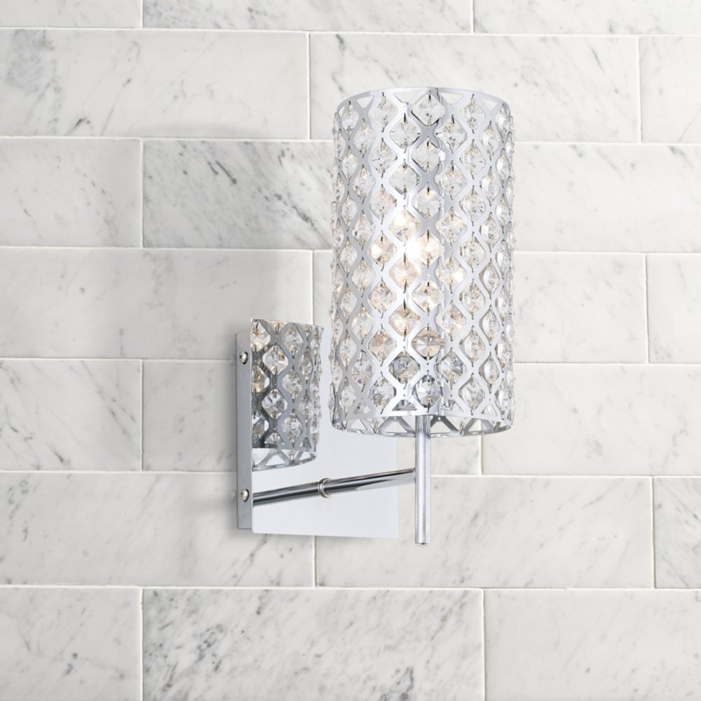 Possini bathroom lighting - Possini Euro Design Glitz 12 1 2 High Wall Sconce Crystal Scones Amazon Com