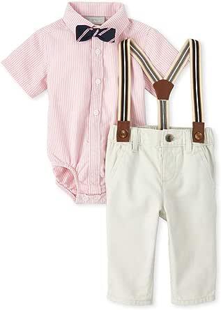 The Children's Place Baby-Boys 3008094 Short Sleeve Button Down Pant Set Pants Set