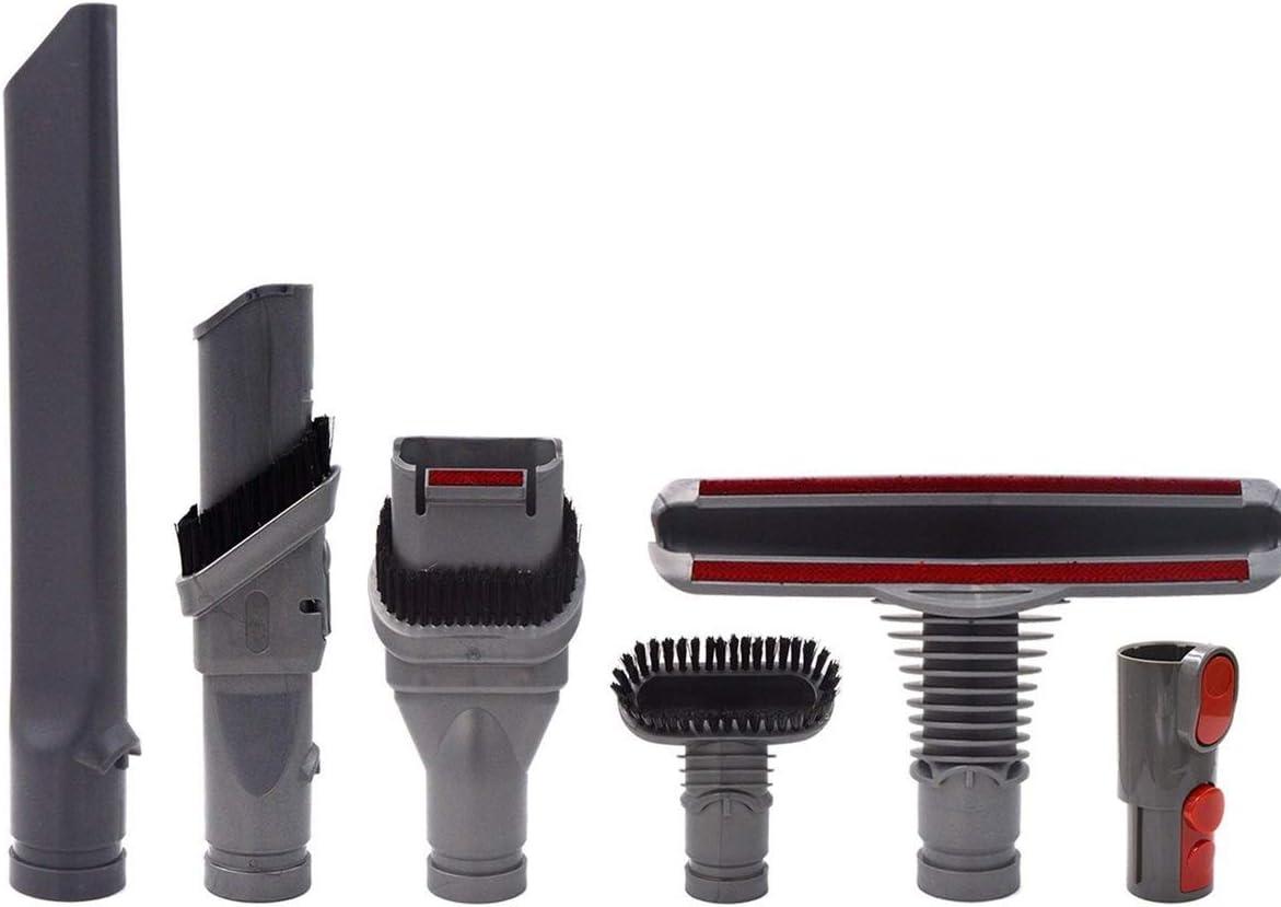 AiCheaX 6Pcs Aspirador Cepillo Piezas Adaptador Kit de Accesorios para Dyson V6 V7 V8 V10: Amazon.es: Hogar