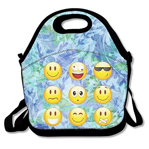 Smiley Emoticons Lunch Bag Adjustable Strap