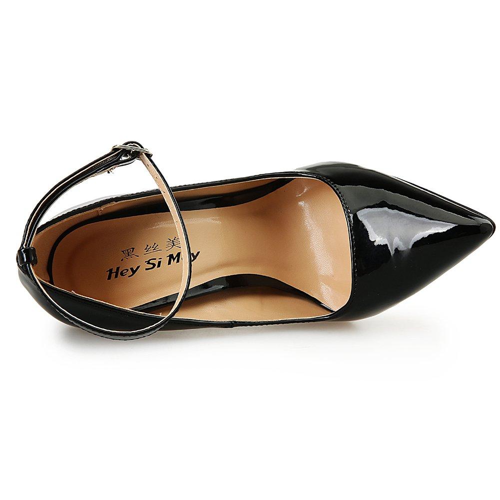 Leeminus , Damen Knöchel-Riemchen , schwarz - schwarz - Größe Größe Größe  45 EU 3b99e6