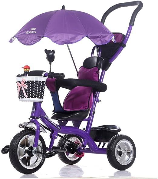Carro plegable para bicicletas para niños 1-6 años, cochecito de ...