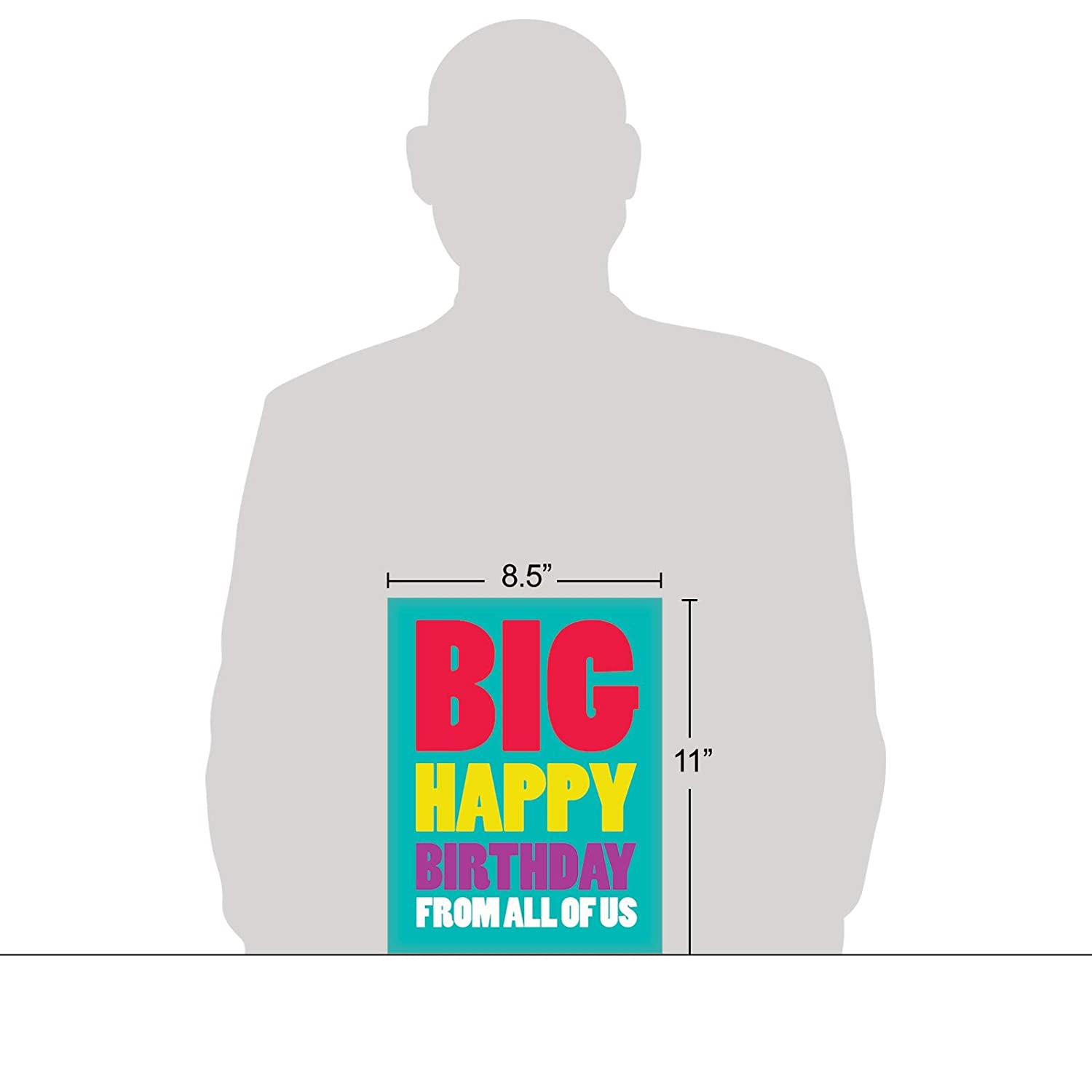 Amazon Xl Happy Birthday Greeting Card 85 X 11 Big