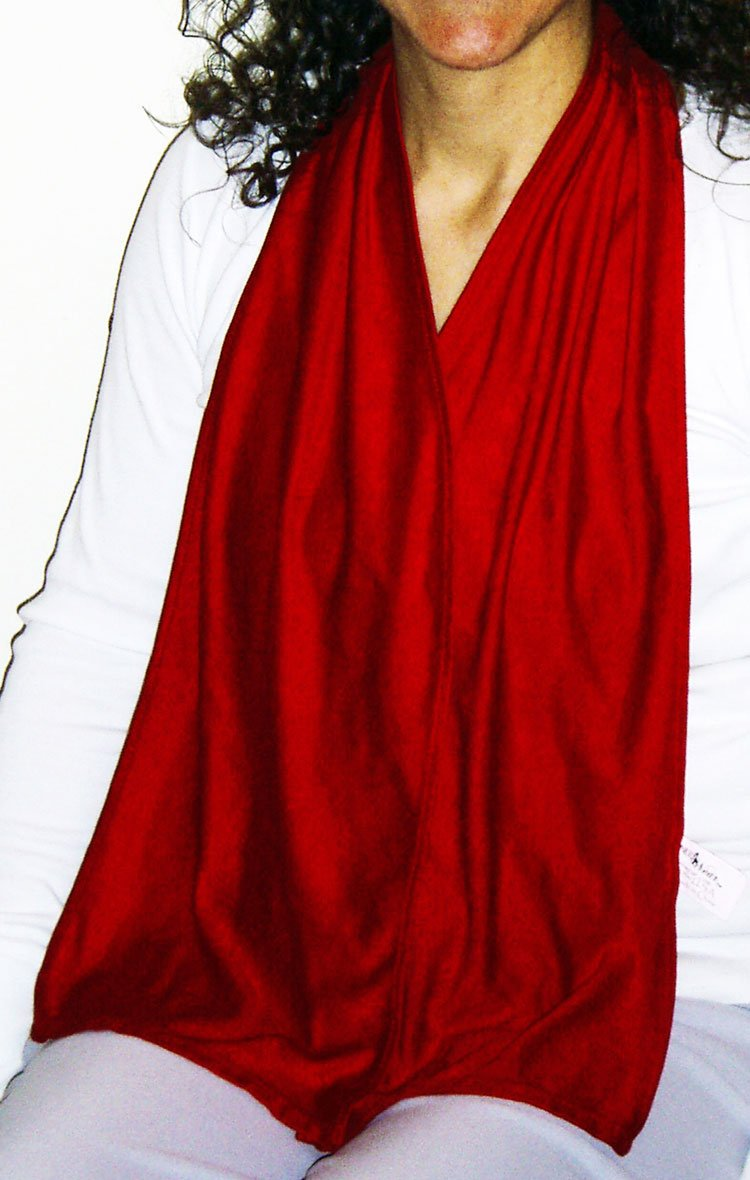 DinerWear Cravaat - Adult Bib Dining Scarf w/Magnetic Snap (Red)