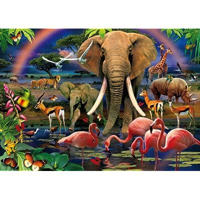 Clementoni Puzzle 39187 African Savannah 1000 Pezzi Magic Puzzle 3d
