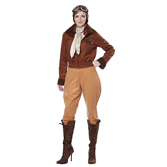 1920s Skirts, Gatsby Skirts, Vintage Pleated Skirts Womens Amelia Earhart Costume $47.95 AT vintagedancer.com