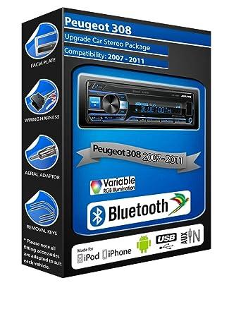 Alpine Peugeot 308 car radio UTE-200BT Bluetooth Handsfree Mechless