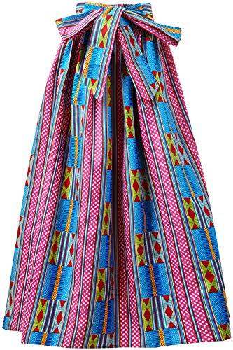 (Shenbolen Women African Print Skirt Ankara Maxi Skirt Dashiki Skirt(One Size D) )