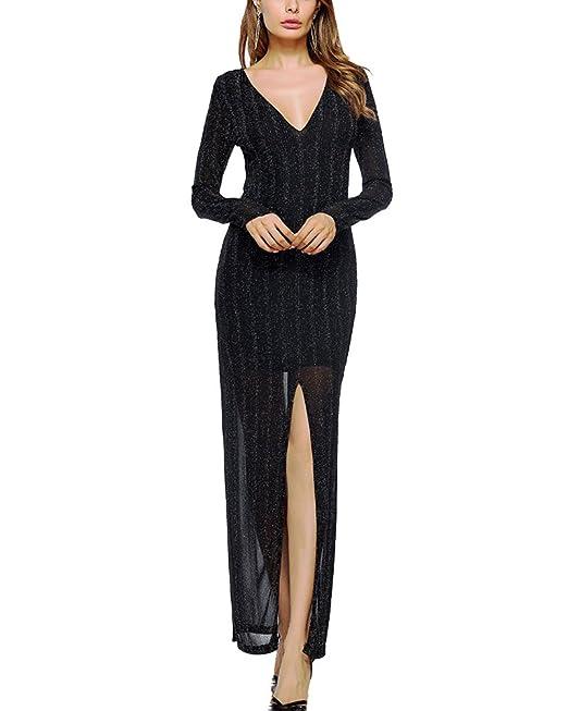 Vestidos Fiesta Para Bodas Vintage Largos Mujer Elegante Negro L
