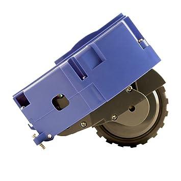 ASP ROBOT Rueda lateral izquierda para Roomba 650 Serie 600. Recambio ORIGINAL repuesto compatible para aspirador irobot Rumba Serie 6 ALTA CALIDAD: ...