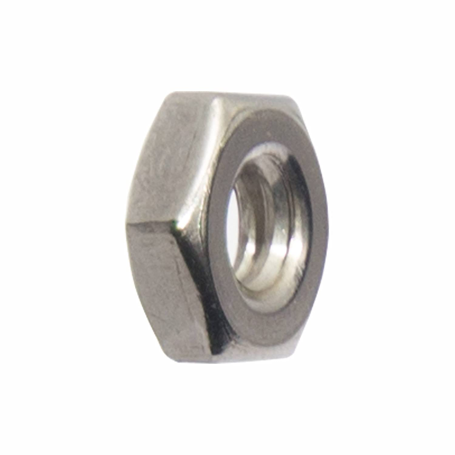 Stainless Steel 18-8 Quantity 100 By Fastenere 6-32 Machine Screw Hex Nuts Bright Finish
