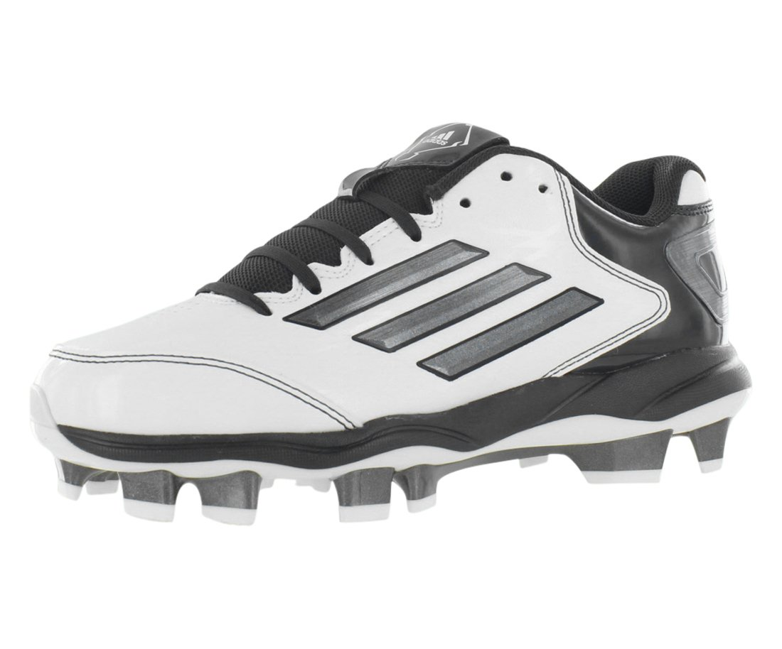 adidas Performance Women's PowerAlley 2 TPU W Softball Cleat, White/Carbon/Black, 9 M US