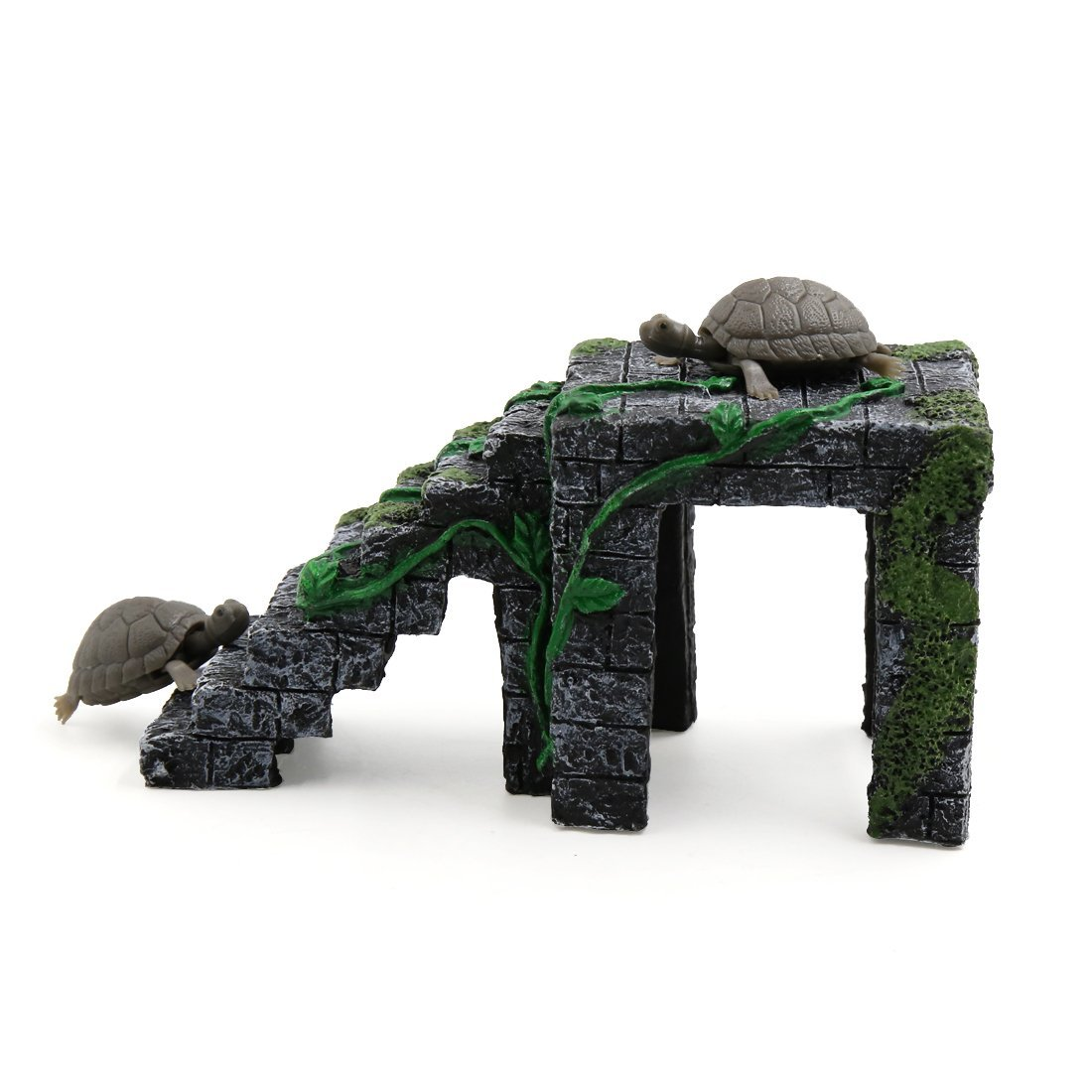 Amazon.com : eDealMax Gris Oscuro acuario Verde paisaje Resina Basking Rampa Tortuga Suba Piedra Hábitat ornamento : Pet Supplies
