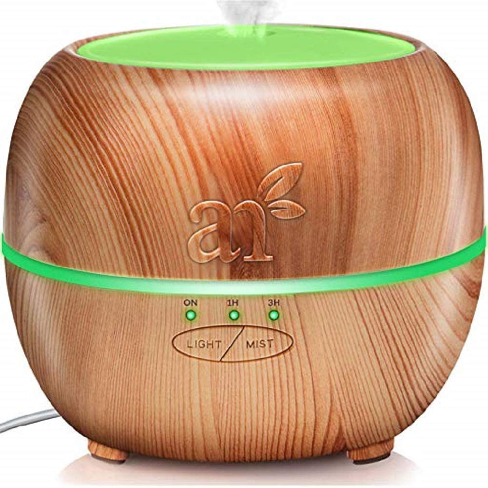 CDM product Latest Version Essential Oil Diffuser, Aroma Essential Oil Cool Mist Humidifier with Adjustable Mist Mode,Waterless Auto Shut-off and 7 Color LED Lights Changing for... big image
