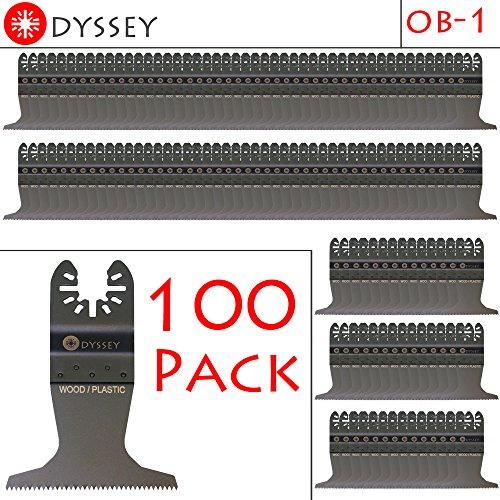 Odyssey Oscillating Multitool 2-1/2 inch Wide Wood Plastic Saw Blade Fits Fein Multimaster Bosch Makita Genesis Dremel Craftsman Bolt-on Nextec Ridgid Ryobi - (100 Pack)