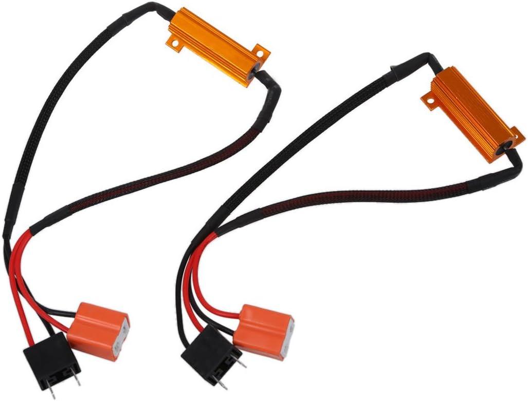 Kit de resistencia de carga H7 LED Cableado Arnés Anti-Flicker ...