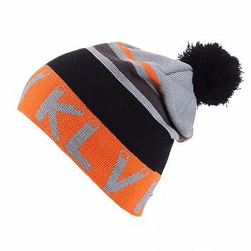 279c13a0055 Men Women Knit Wool Beanie Hats - Winter Wool Warm Cap Real Fur Pom Pom  Color