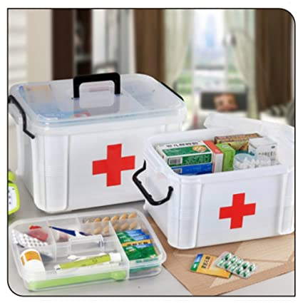 Charmant Yongcun First Aid Box Emergency Medicine Box First Aid Storage Container Box  (First Aid Box