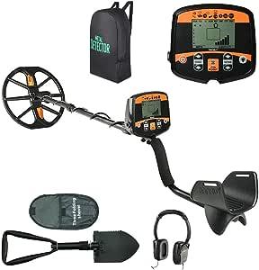 Znesd Detector de Metales Impermeable, Auriculares y una Pala, función Pinpoint, luz del LED, sensibilidad y Volume Controller: Amazon.es: Jardín
