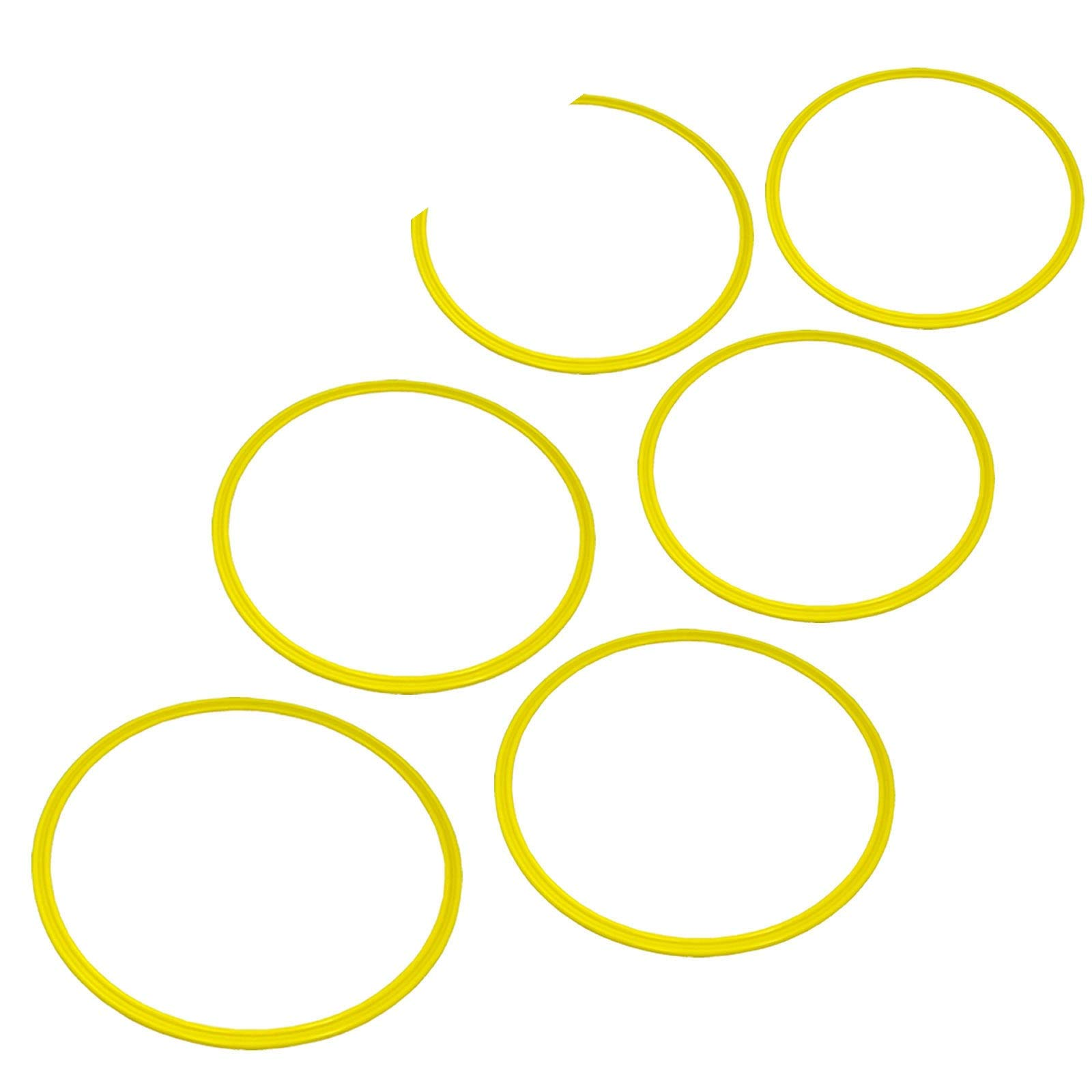 Bright Sun 6 pcs Trading Speed and Agility Training Rings Yellow #BDMN by Bright Sun