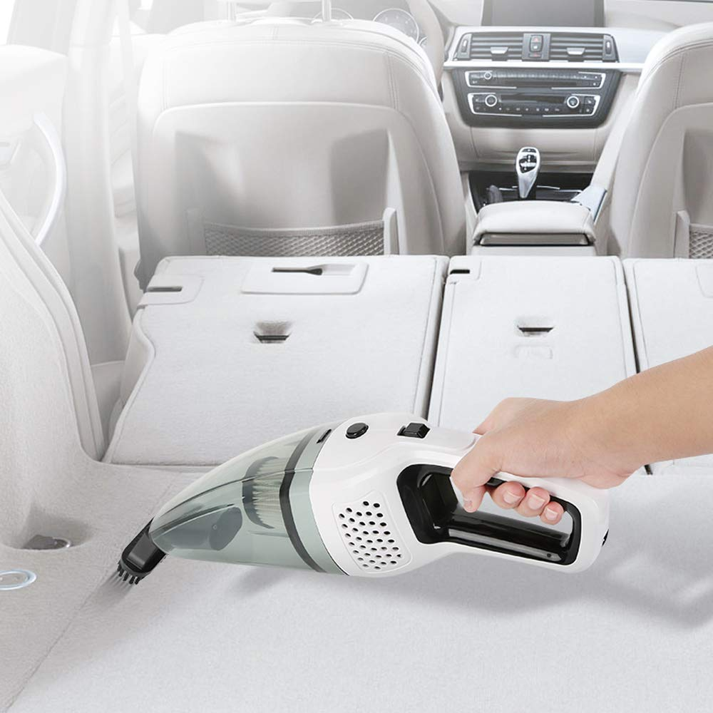 DC 12V Portable Rechargeable Car Vacuum Cleaner for Car and Home with Strong Suction High Power Small Dust Buster for Wet/&Dry Use 【Updated】 BOLWEO Handheld Vacuum Cleaner Cordless