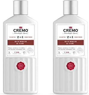 product image for Cremo Barber Grade Bourbon & Oak 2-in-1 Shampoo & Conditioner, 16 Oz (Pack of 2)