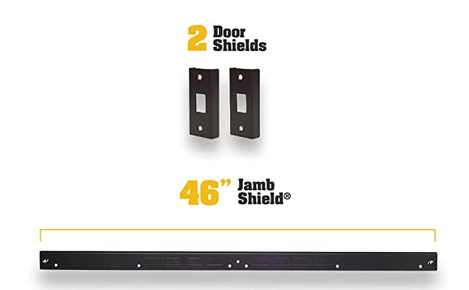 Amazon.com: Mini armadura de puerta - Kit de refuerzo de ...