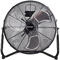 COSTWAY High Velocity Fan 20-Inch 3-Speed High Velocity Metal Floor Fan, Black