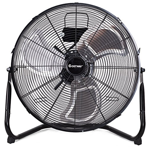 COSTWAY High Velocity Fan 20-Inch 3-Speed Metal Commercial I