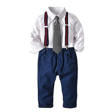 Spring Boy Traje de Manga Larga Camisa Pantalones de ...