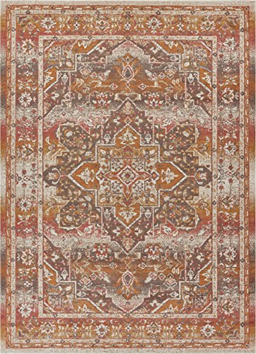 Well Woven FI-138-3 Firenze Dorothea Modern Vintage Southwestern Distressed Earth Accent Rug 2